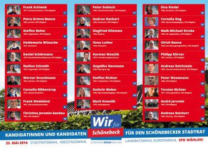 Wir für Schönebeck - Unsere Kandidatinnen und Kandidaten zur Stadtratswahl
