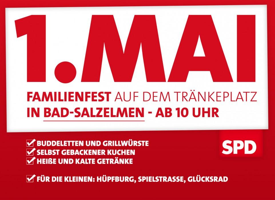 Traditionelles 1. Mai Fest auf dem Tränkeplatz in Bad Salzelmen