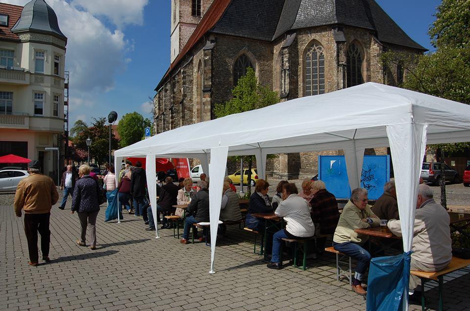 Traditionelles 1.Mai-Familienfest der SPD auf dem Tränkeplatz in Bad Salzelmen